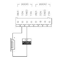 Mágneszár bekötése (pl CV-14/DC)